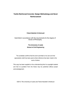 fiber reinforced concrete thesis Design of fibre reinforced concrete beams and slabs master of science thesis in the master's programme structural engineering and building performance design.