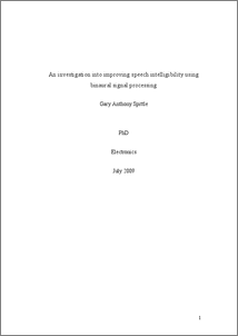 Phd thesis dsp