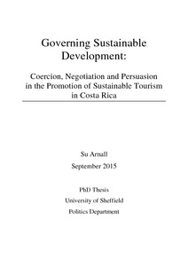 Phd thesis on sustainable tourism