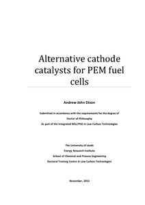 Alternative cathode catalysts for PEM fuel cells - White