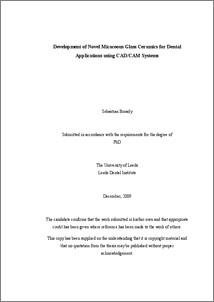 Phd thesis on cadcam