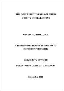 childhood obesity phd thesis Thesis: genetics of severe childhood obesity  (ismaa) sadaf farooqi fmedsci is a  she moved into research and was awarded a phd in 2001 from the.