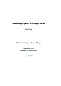 master thesis on phishing Looking for msc thesis topic in the field of cyber security i actually read your thesis when i was searching for master thesis in social spear-head phishing.