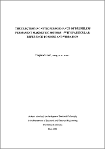 The electromagnetic performance of brushless permanent magnet DC