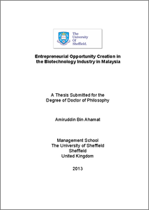 Phd thesis of biotechnology