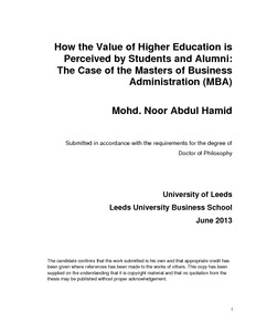 Mba phd thesis