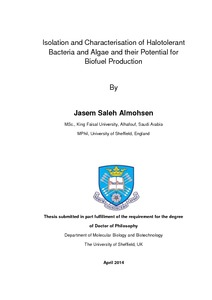 thesis on isolation of bacteria Supporting text bacterial total rna isolation reagents stop solution consisting of 5% buffer equilibrated phenol (ph 74) in ethanol (1), rneasy mini kit and.