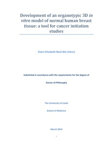 Phd thesis on breast cancer