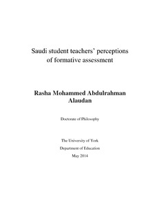 thesis formative assessment Issn: 2411-5681 wwwijerncom 482 abstract the study investigated the effect of formative assessment on students' achievement.
