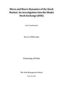 Micro and Macro Dynamics of the Stock Market: An